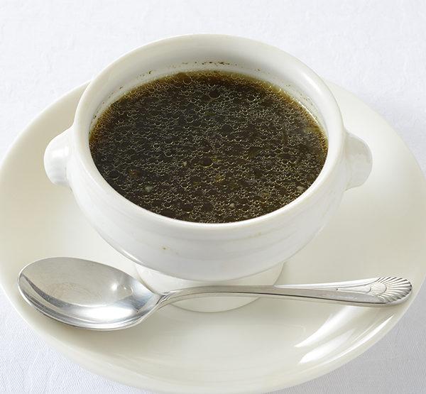 モロヘイヤ スープ 2人分